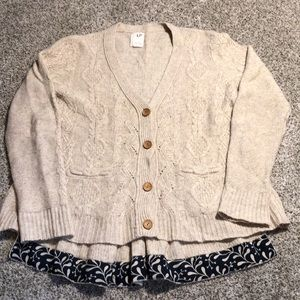 Anthropologie Far Away From Close Fisherman Knit